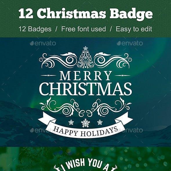 12 Christmas Badge