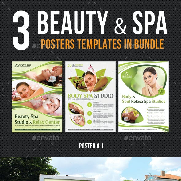 3 in 1 Beauty and Spa Poster Poster Bundle 01