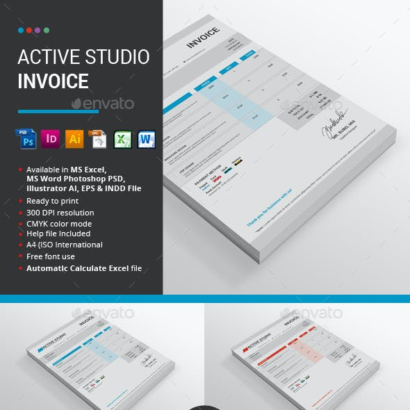 Active Studio Invoice