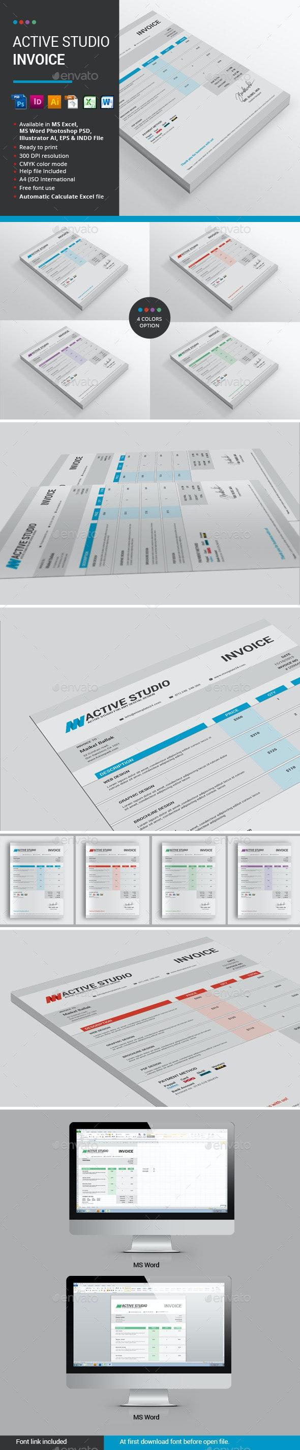 Active Studio Invoice - Proposals & Invoices Stationery