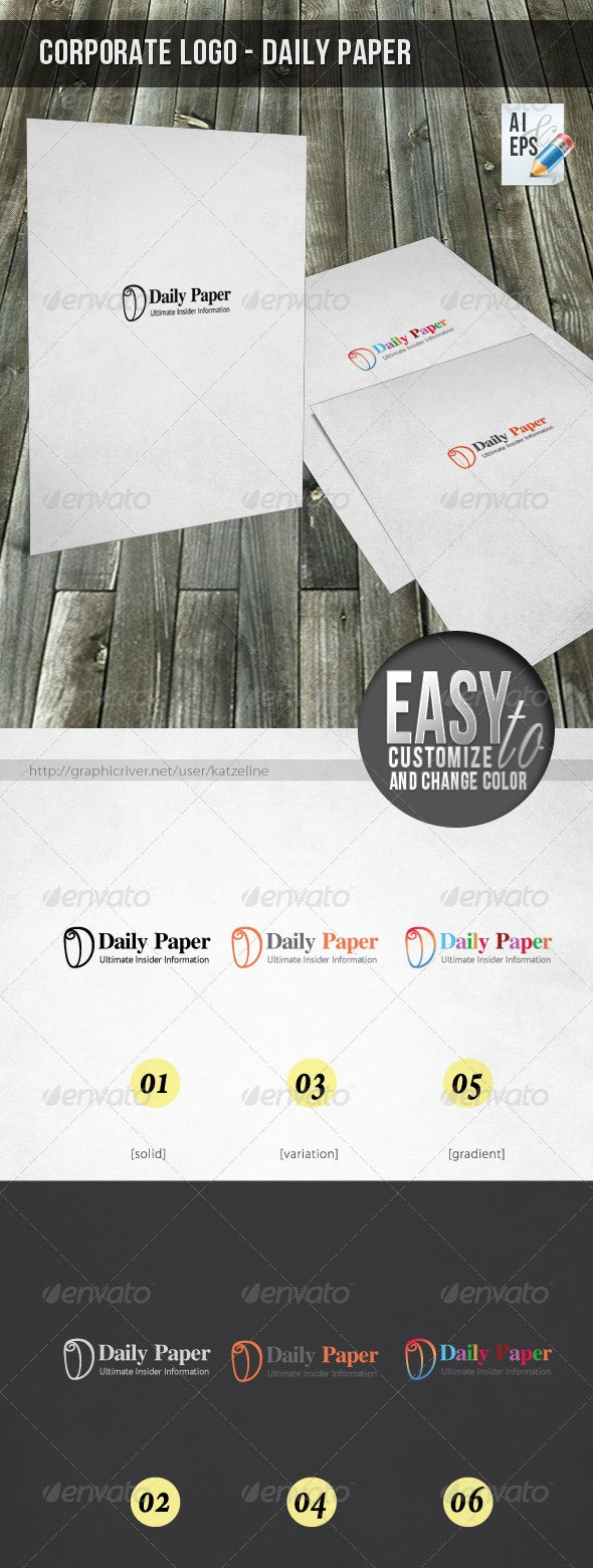 Corporate Logo - Daily Paper - Letters Logo Templates