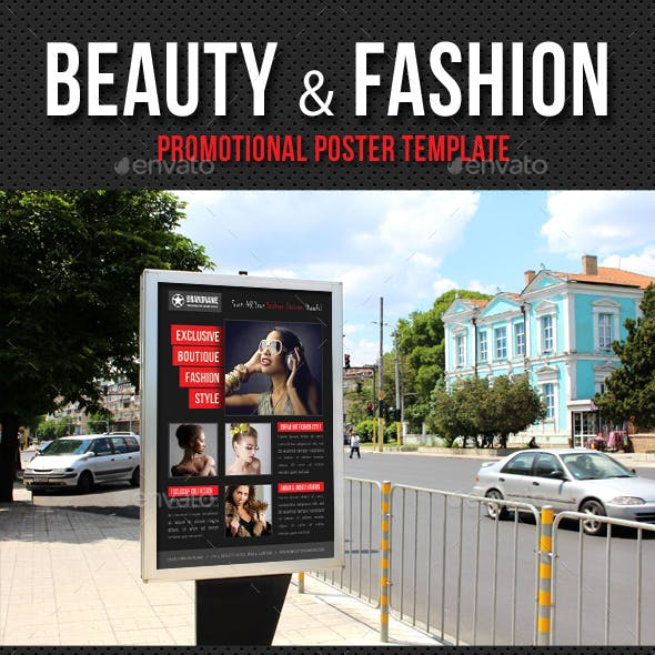 Beauty and Fashion Poster Template V08