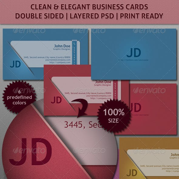 Clean Elegant Business / Corporate Card