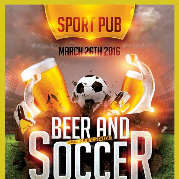 Soccer and Beer Flyer