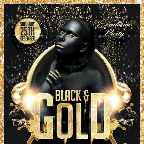 Black and Gold Party Flyer