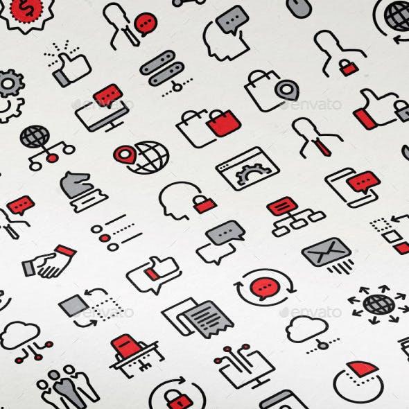 100 SEO Icons