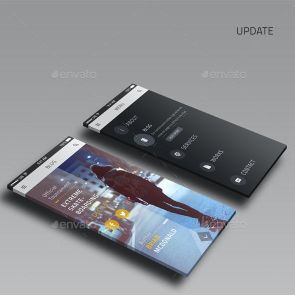 Clojn - Mobile UI Template