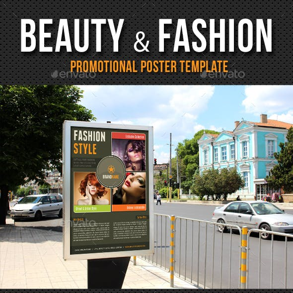 Beauty and Fashion Poster Template V10