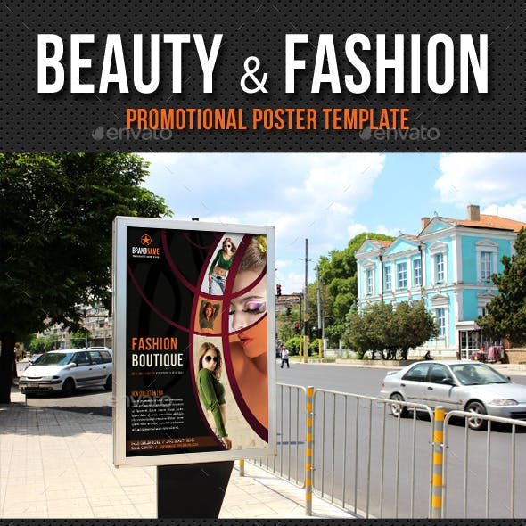 Beauty and Fashion Poster Template V11