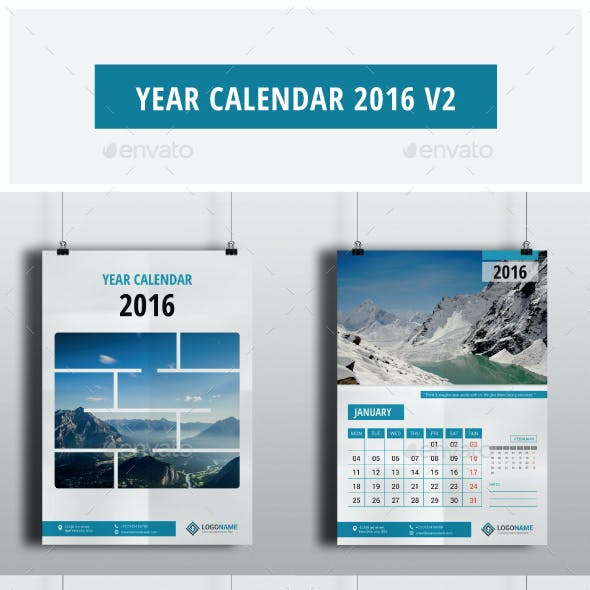 Year Calendar 2016 V2