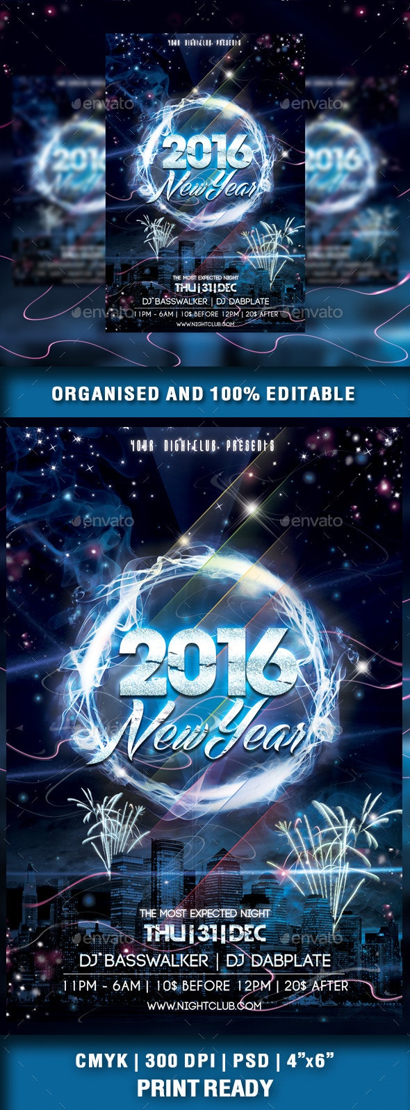 New Year 2016 Party Flyer - Events Flyers