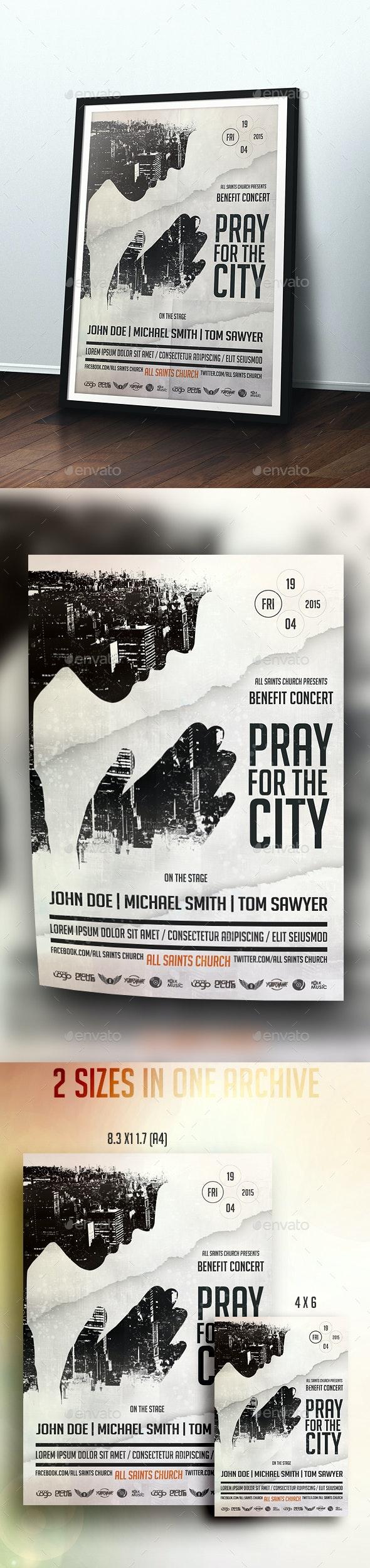 Pray For The City - Church Flyers