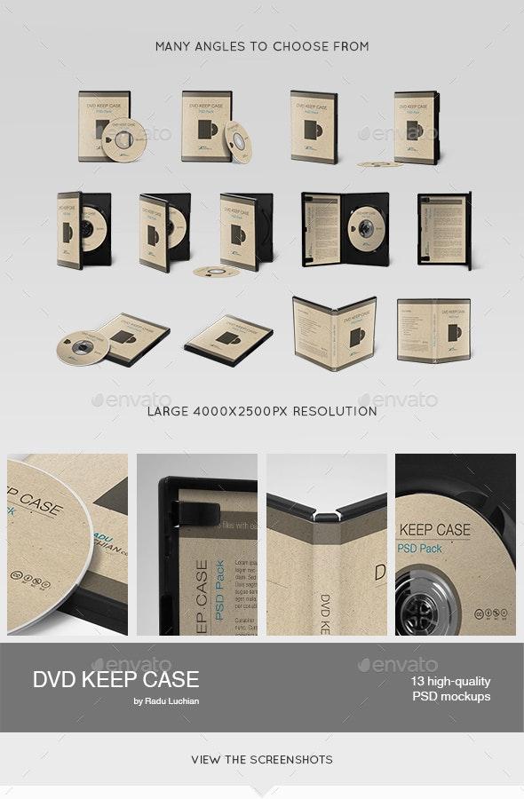 13 DVD Keep Case Mock-ups - Discs Packaging