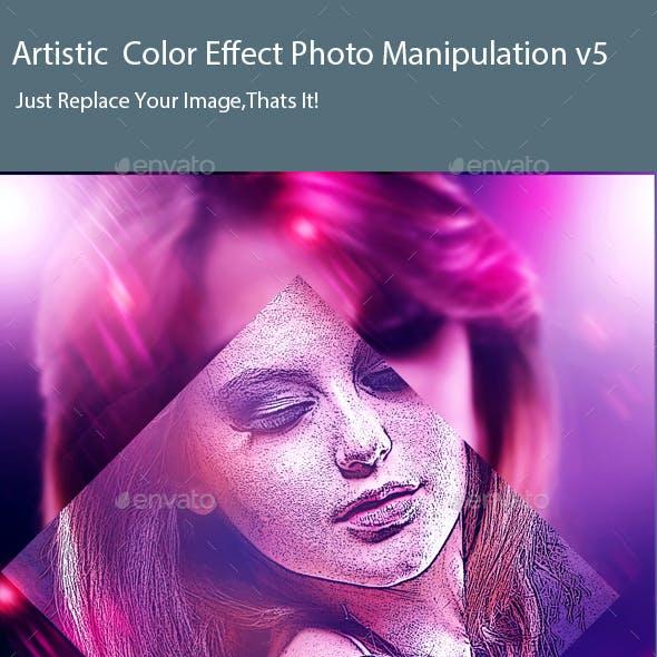 Artistic  Color Effect Photo Manipulation v5
