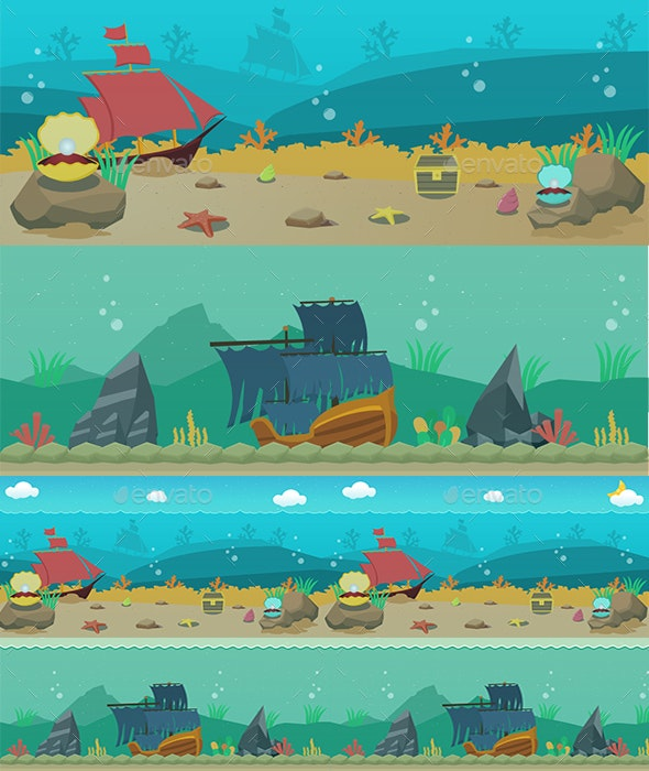 Undersea Background - Backgrounds Game Assets