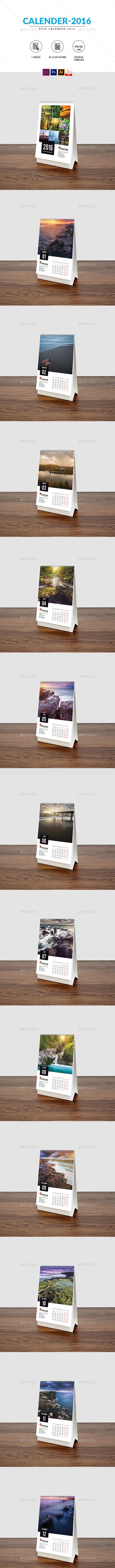 Desk Calendar 2016 - Calendars Stationery