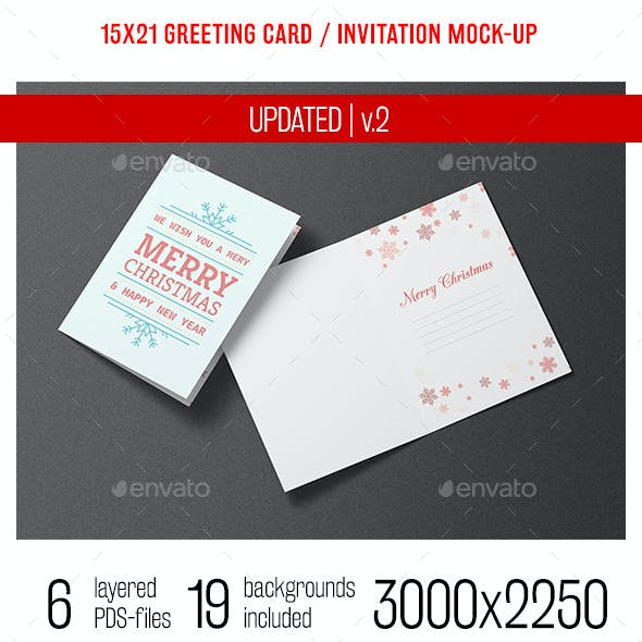 Greeting Card and Invitation Mock-up
