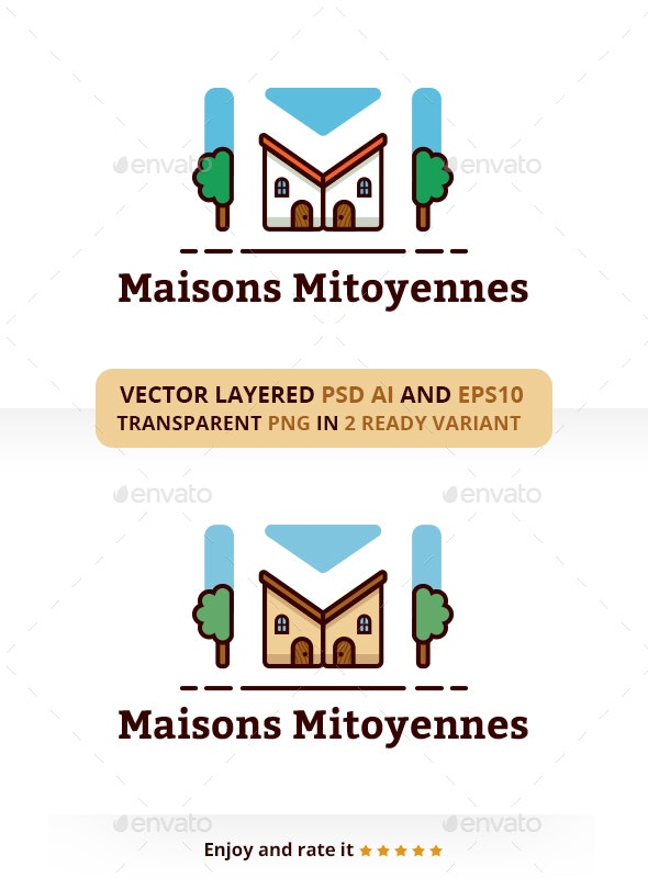 Maison Mitoyeness - Buildings Logo Templates