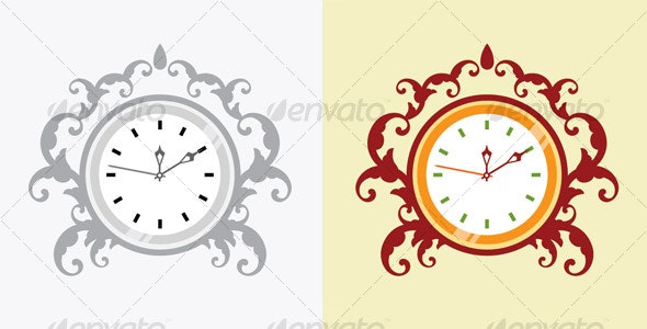 Vector Creation For Analog Clock Design - Miscellaneous Vectors