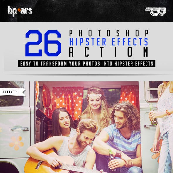 26 Photoshop Hipster Action