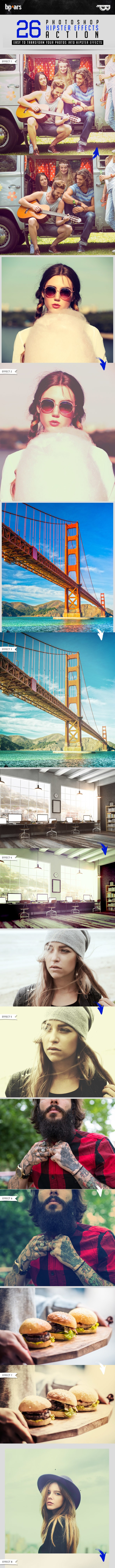 26 Photoshop Hipster Action - Photo Effects Actions