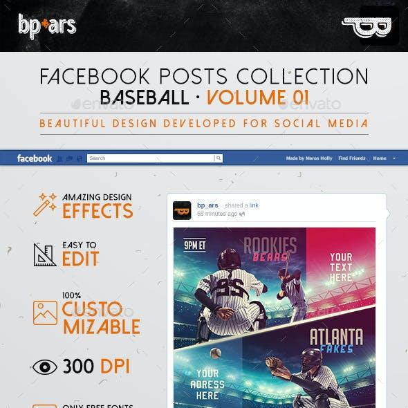 5 Facebook Banners Posts | Baseball Vol I