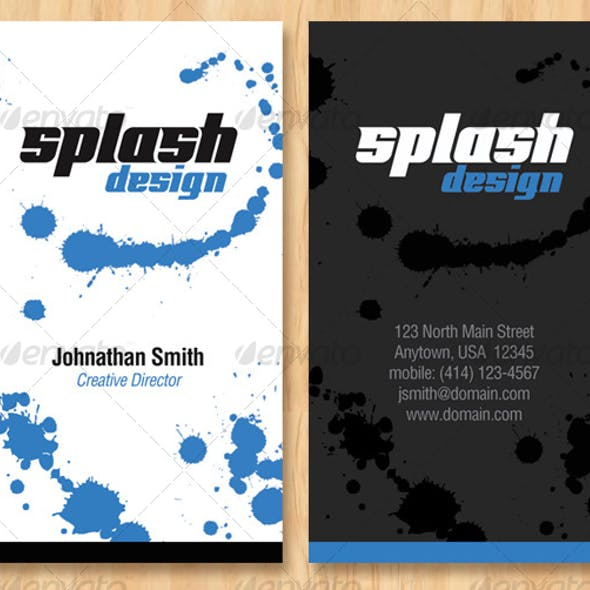 Splash Design Business Card