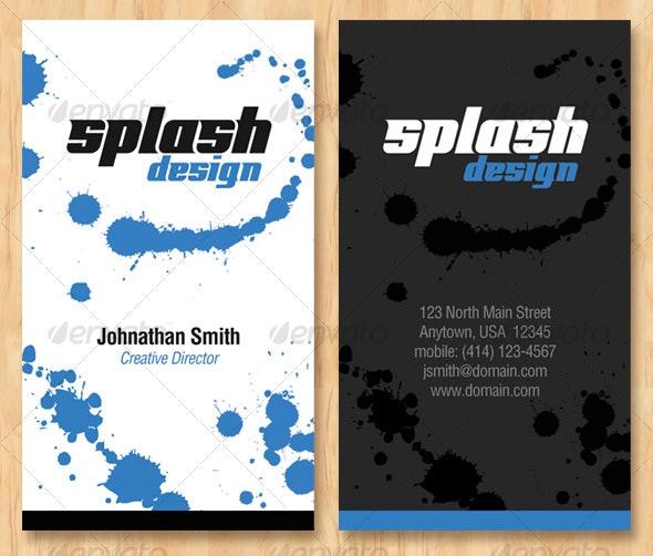 Splash Design Business Card - Creative Business Cards