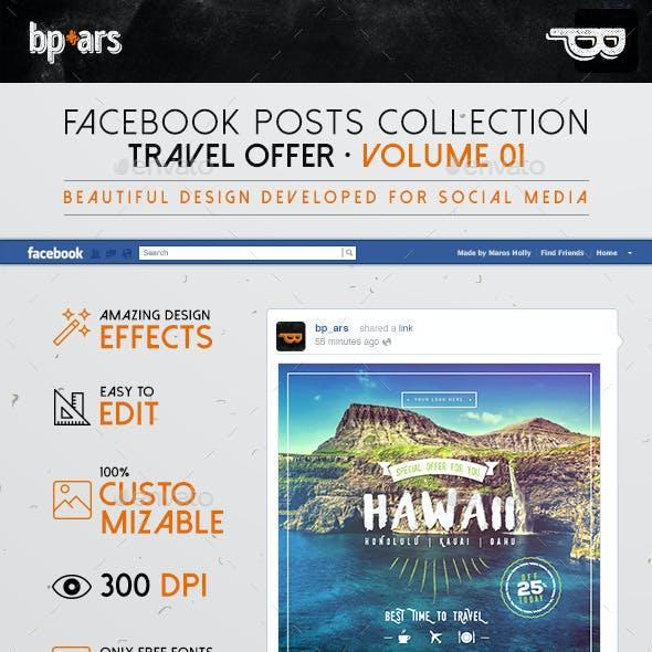 5 Facebook Banners Posts   Travel Offer vol I