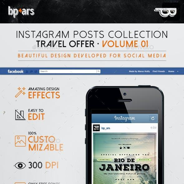 5 Instagram Banners   Travel Offer vol I