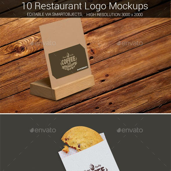 Restaurant Logo Mockup Bundle