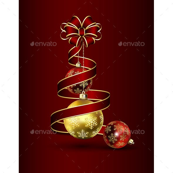 Ribbon and Christmas Baubles