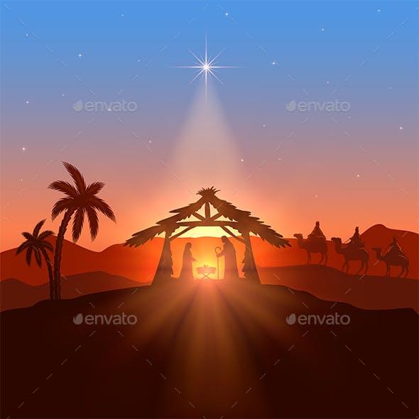 Christian Theme with Christmas Star