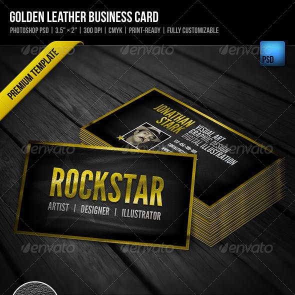 Golden Leather Business Card