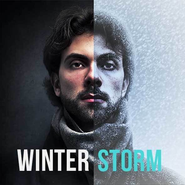 WinterStorm Action for Photoshop