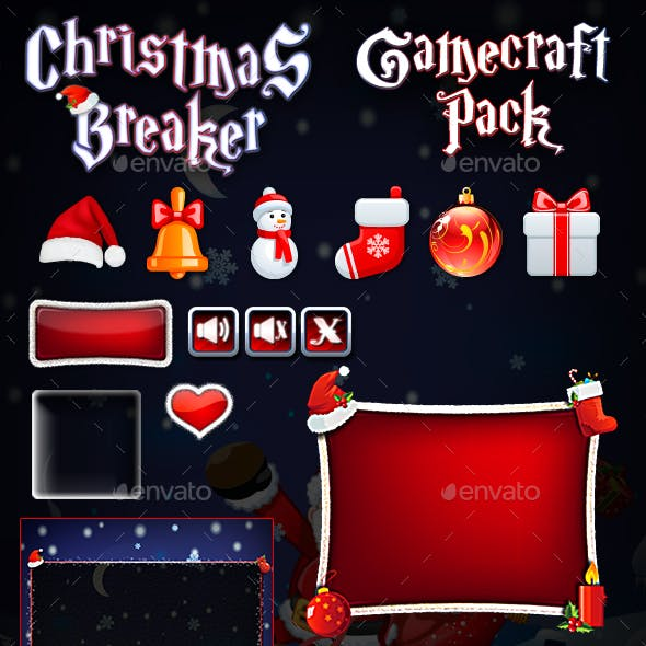 Christmas Breaker Game Assets