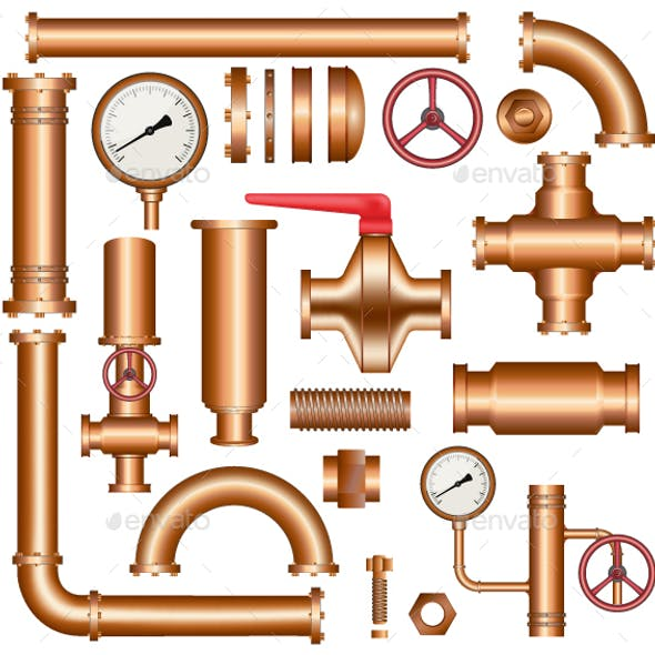 Copper Pipeline Elements