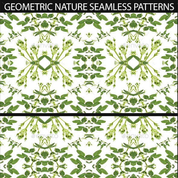 4 Modern Nature Geometric Seamless Patterns