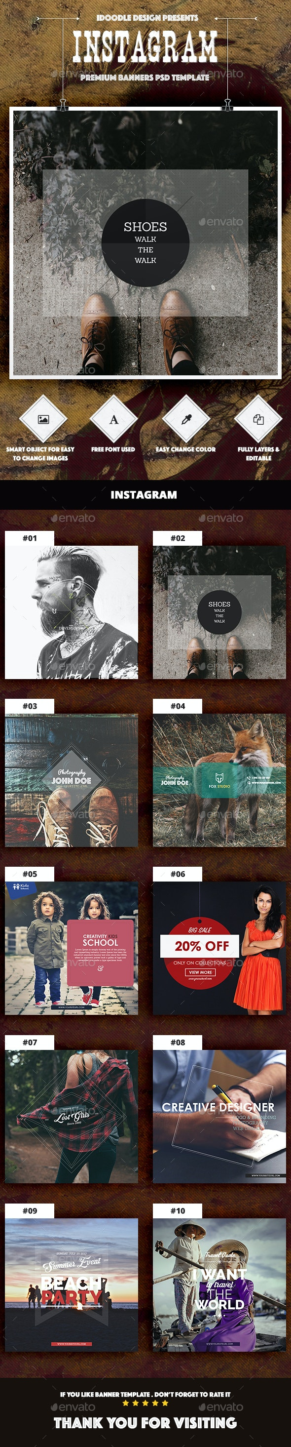 Multipurpose Instagram Ad - Banners & Ads Web Elements