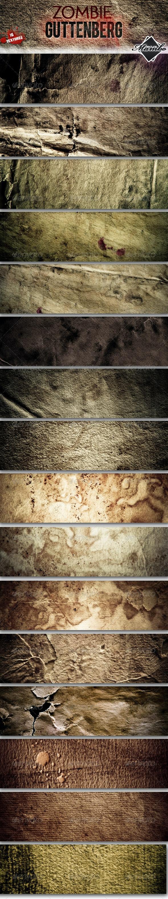 Zombie Guttenberg - Paper textures - Industrial / Grunge Textures