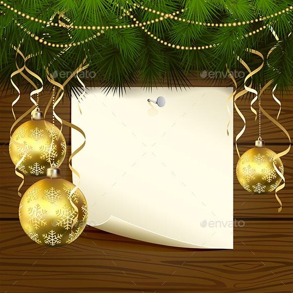 Christmas Balls and Paper - Christmas Seasons/Holidays