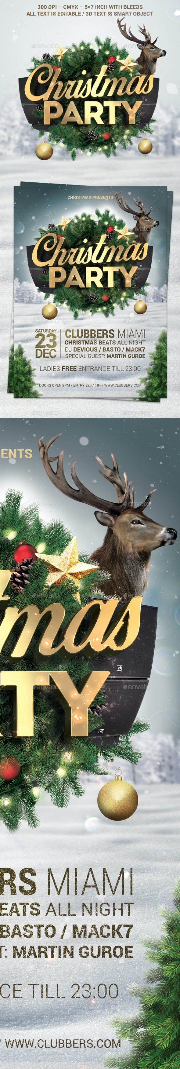 Christmas Party Flyer V3 - Holidays Events