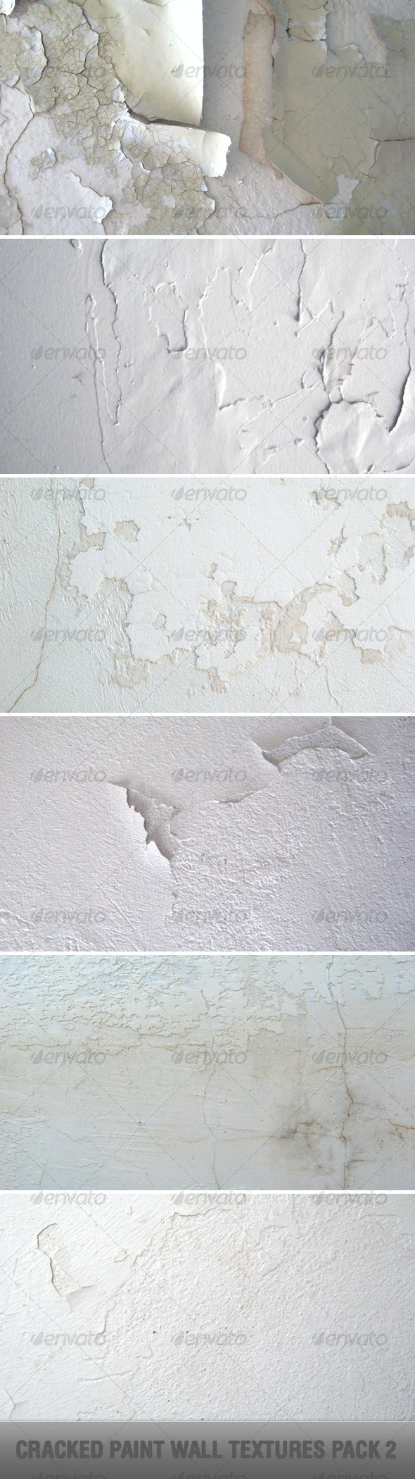 Cracked Paint Wall Textures Pack 2 - Industrial / Grunge Textures