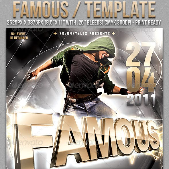 Famous Poster/Flyer Template