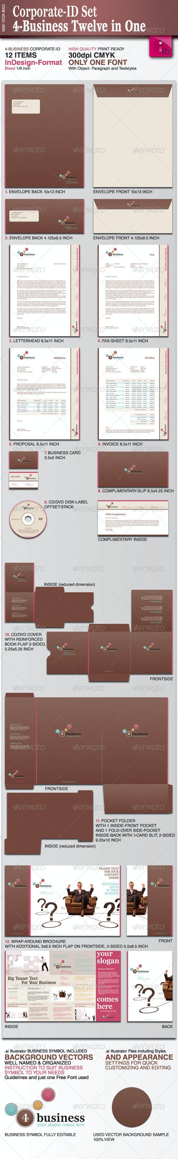 Corporate-ID Set 4-Business Twelve in One - Stationery Print Templates