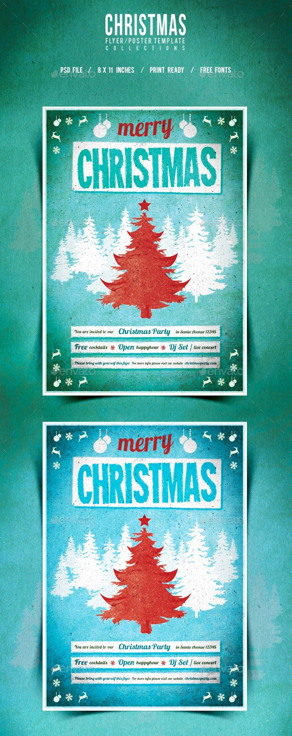 Christmas Flyer/Poster Retro Vol.10 - Events Flyers