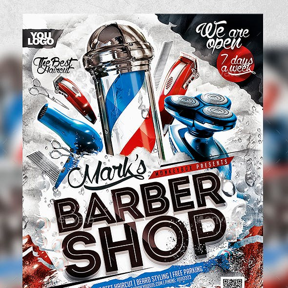 Barber Shop Flyer Konnekt