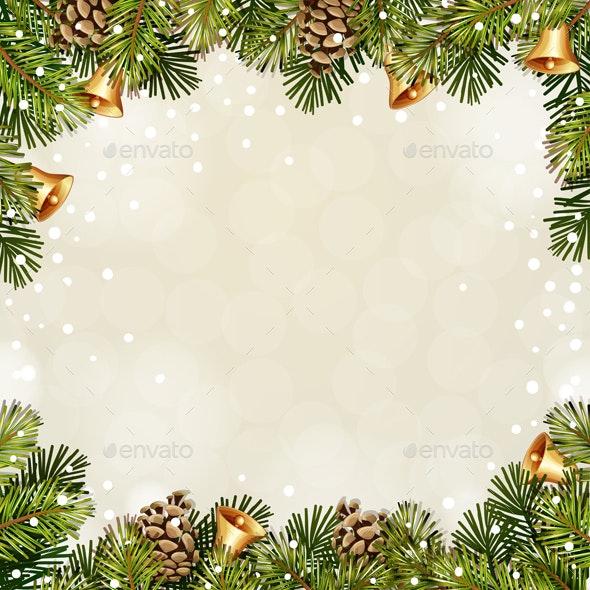 Christmas Illustration with Christmas Bells. - Christmas Seasons/Holidays