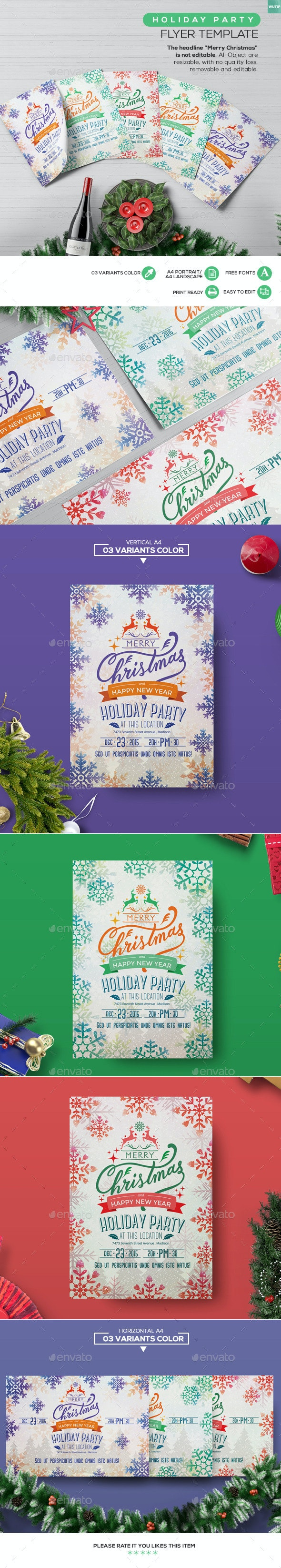 Holiday Party Flyer Template - Holidays Events