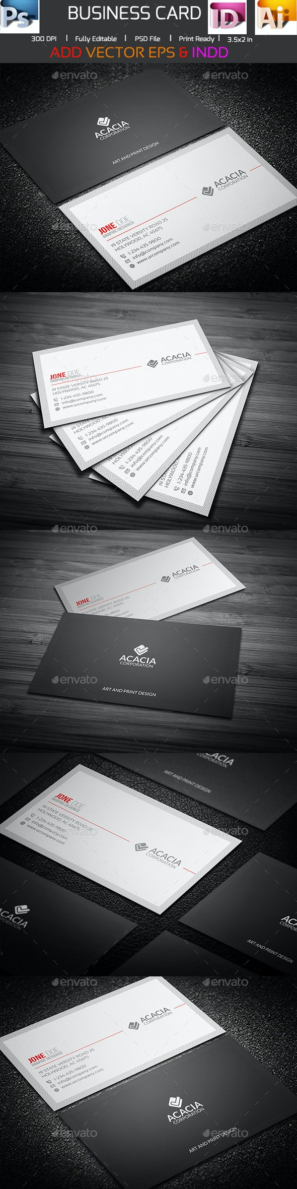 Modern Professional Business Card - Corporate Business Cards